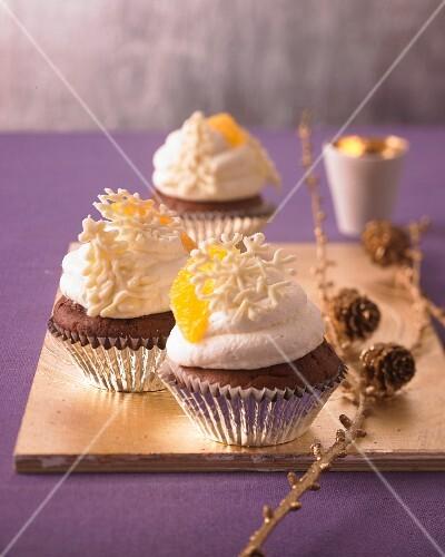 Christmas orange cupcakes