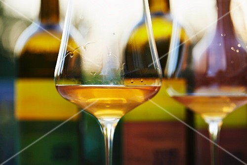 Unfiltered, organic wines with a glass of orange wine