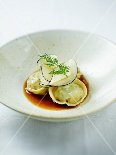 Tortellini with radish