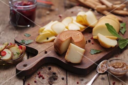 A Hungarian cheese platter