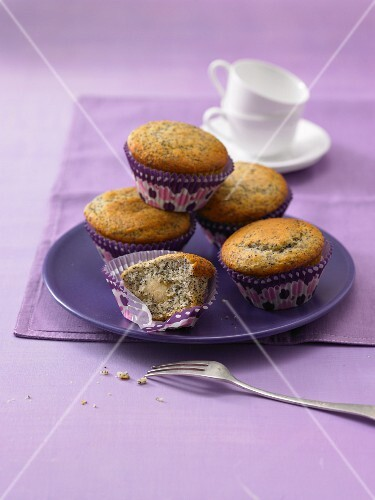 Poppyseed and marzipan muffins