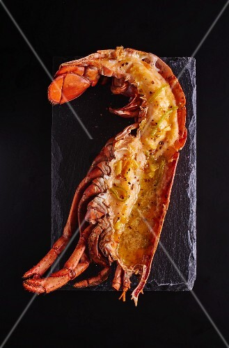 Lobster with citrus fruit sauce (seen from above)