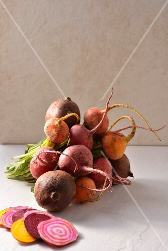 Beetroots, yellow beets and white beets