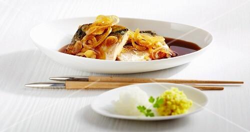 Saba no Ageni (mackerel fillets with onions, Asia)