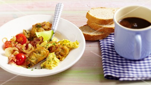 Hangtown Fry (omelette with ham and oysters, USA)