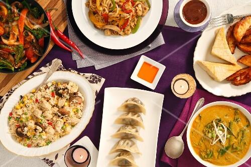 A Chinese vegetarian buffet