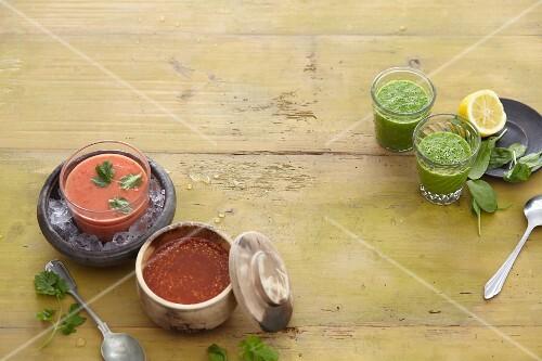 Three magic soups (vegetarian)