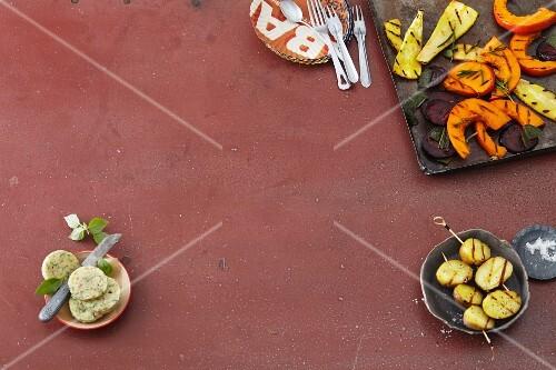 Vegetarian barbecue food