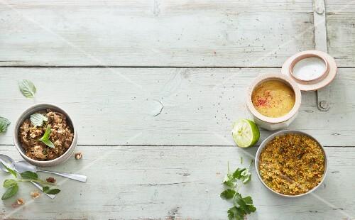 Vegan mustard and salsa