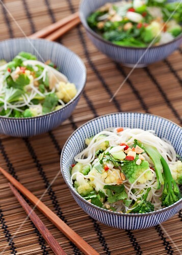 Vegetable noodle salad with coriander (Asia)
