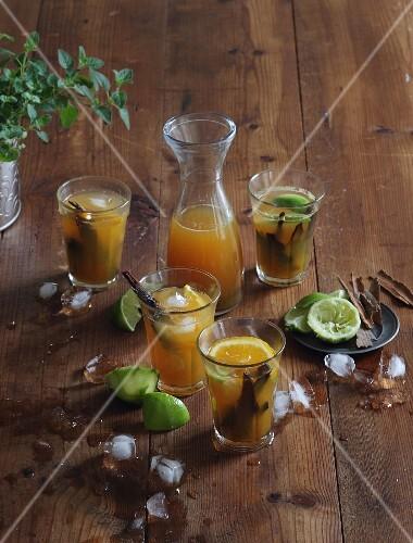 Canelazo (cold orange punch with rum and ice cream, Columbia)