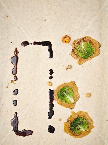 Savoy cabbage pancakes and a marinade
