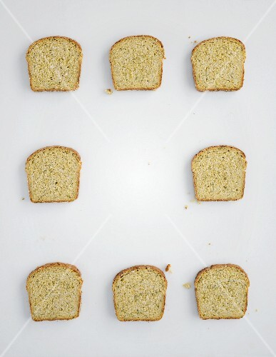 Eight slices of bread