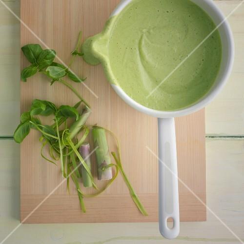 Green sauce with silken tofu