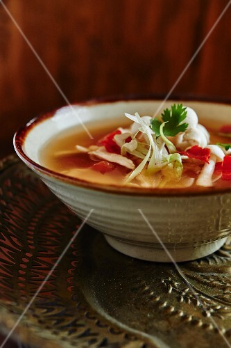 Tom Yum soup with chicken (Thailand)