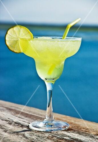 A Margarita by a lake