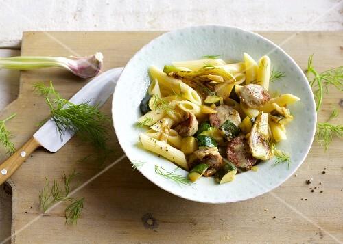 Quick salsiccia pasta with fennel