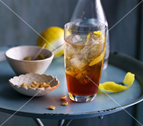 An Americano (an aperitif made from Vermouth and Campari)