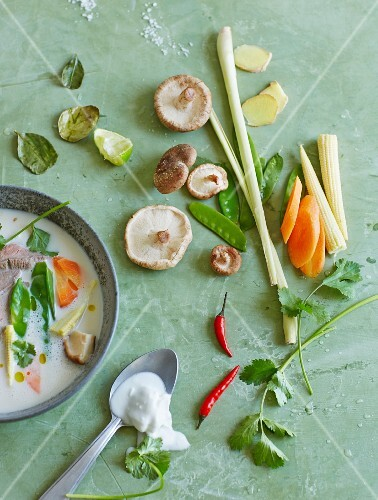 Oriental soup ingredients
