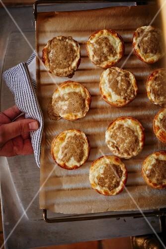 White truffle tartlets