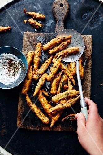 Fried okra pods (Turkey)