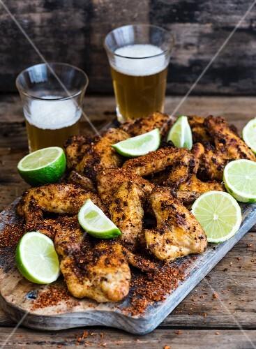 Chicken Wings mit Chili und Limette