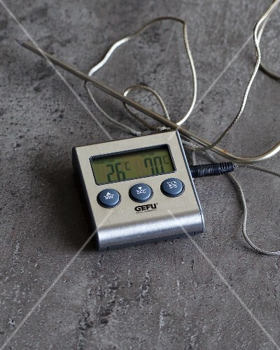 A digital meat thermometer