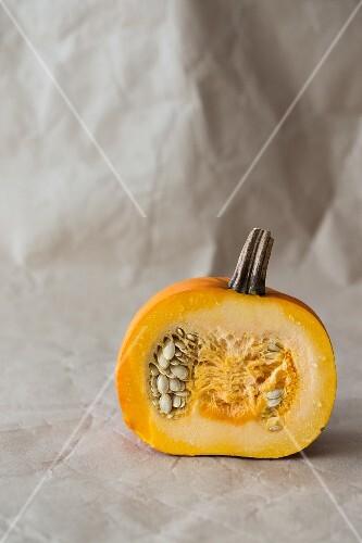 Half a pumpkin