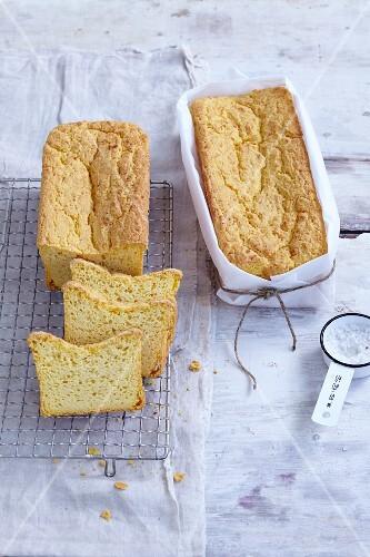 Gluten-free potato bread with Parmesan cheese