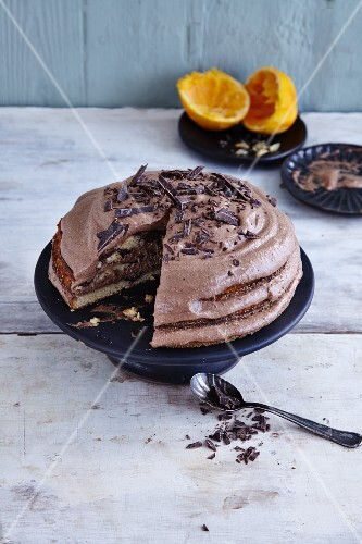Gluten-free marble cake with cardamom and chocolate mousse