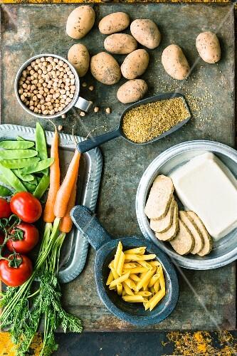 Basic vegetarian ingredients