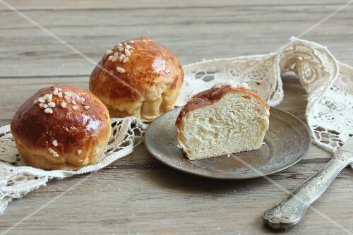 Milkbread sugar buns