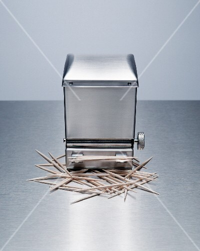 A toothpick dispenser with toothpicks