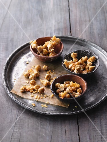 Fried chickpeas with garlic and Parmesan