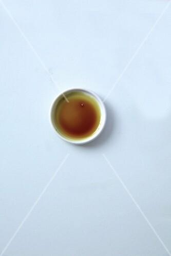 A dish of pumpkin seed oil