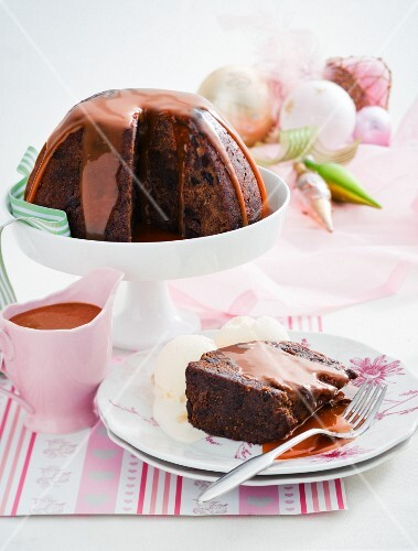 Steamed butterstoch pudding for Christmas