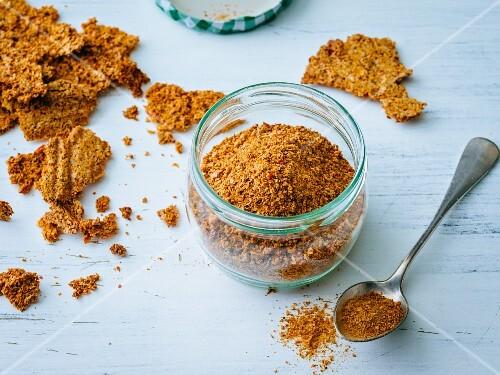 Homemade, gluten-free vegetable stock powder