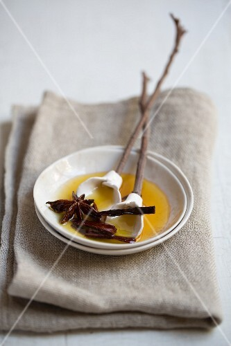 Melted butter with spices