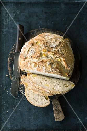 Potato bread with fresh rosemary