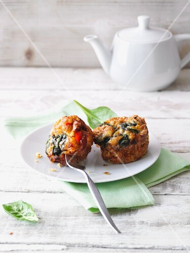 Spicy omelette muffins wrapped in bacon