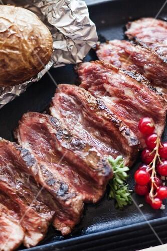 Sliced Pata Negra pork steaks
