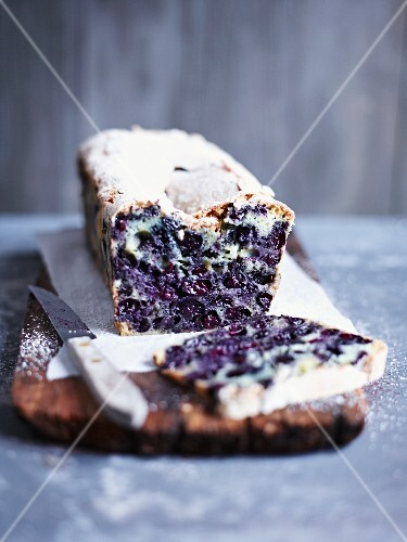 Blueberry bread, sliced