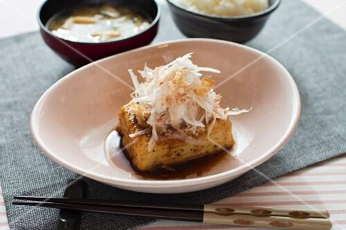 Tofu steak with onions (Japan)