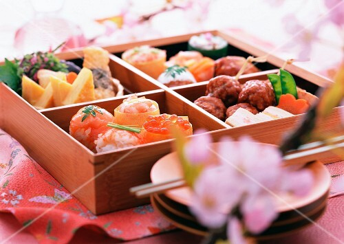 Various snacks in a lunchbox (Japan)