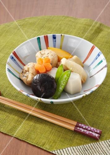 Braised vegetables (Japan)