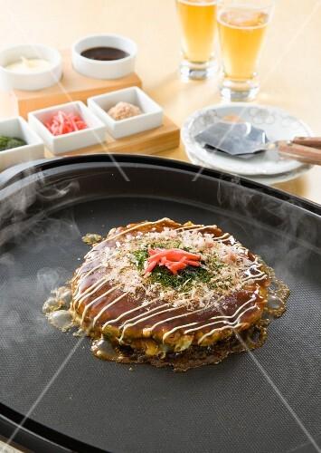 Okonomiyaki (Japanese pancake)