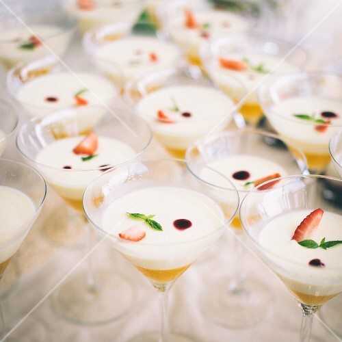 Panna cotta with apricot puree