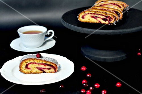 Cranberry strudel and a cup of tea