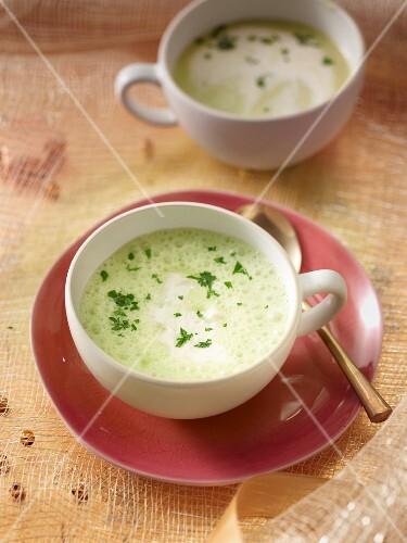 Parsley root foam soup