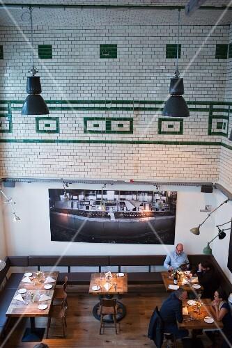 A view in restaurant eins44, Berlin